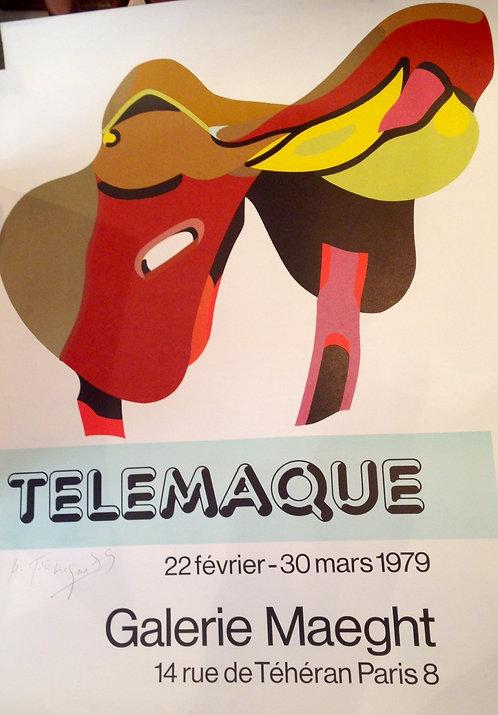 Hervé TELEMAQUE (1937) Exposition Galerie Maeght, 1979 Affiche lithographique, signée