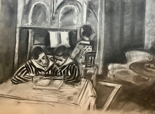 Henri MATISSE (1869-1954), interieur1933, lithographie originale , edition Jeanne Bucher