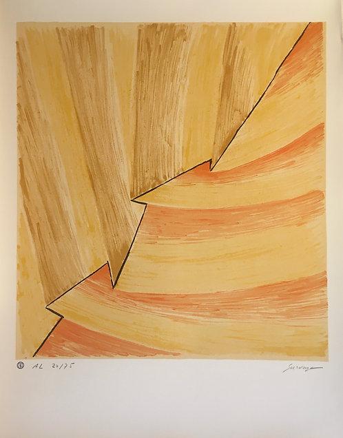 Léopold SURVAGE (1879-1968) Rythme coloré 1969 Lithographie en couleurs signée , galerie agnes thiebault, Paris