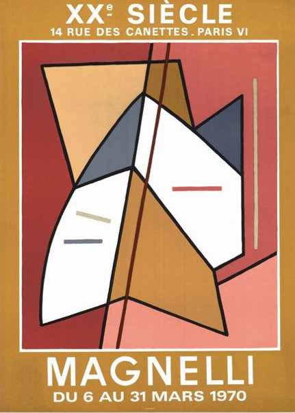 Alberto Magnelli affichelithographique 1970, XXe Siècle,Mourlot