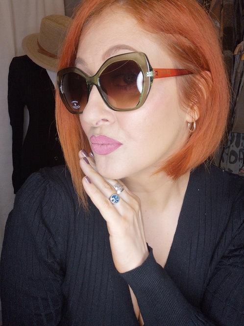 Green & Orange Holywood Glamour Sunglasses