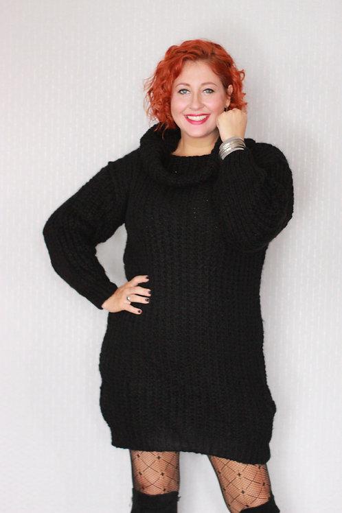 Chunky Knit Polo Jumper Dress