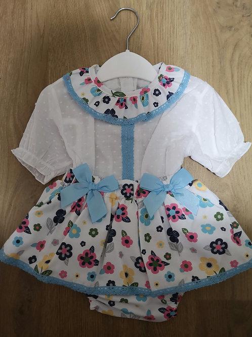 Designer baby floral bloomer set