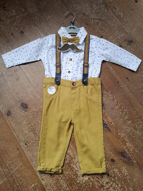 Mustard Trouser Suit and Braces set