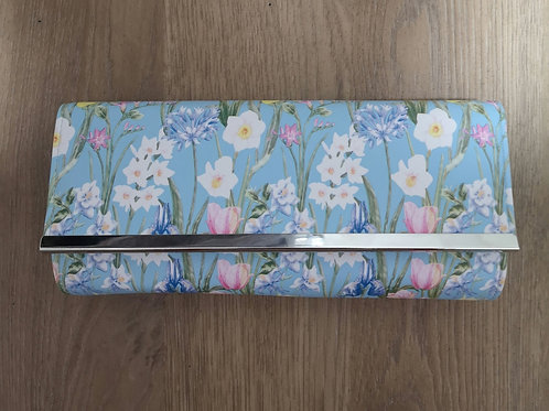 Tulip Floral Soft pvc Rounded Clutch