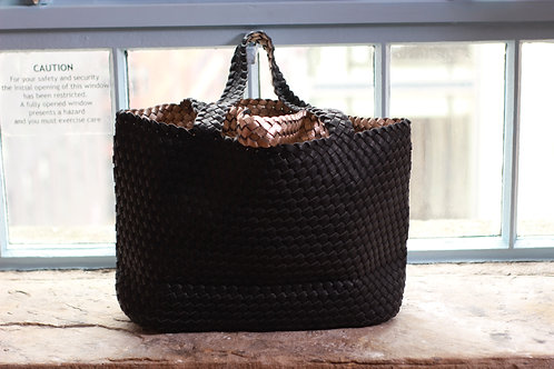 Oversized Weave 2 In One Designer Shopper