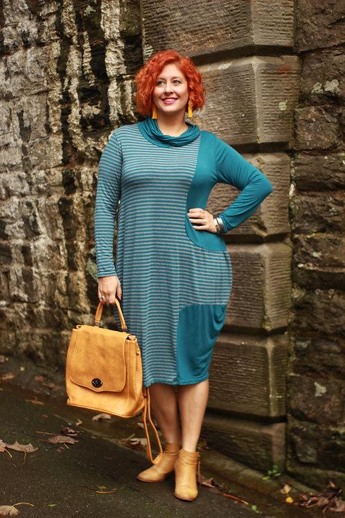 Striped Midi Cotton Dress