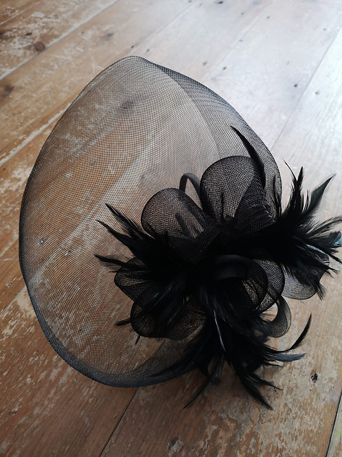 Fascinator with face covering visor