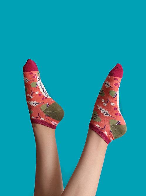 Holly/ Leaf Trainer Sock