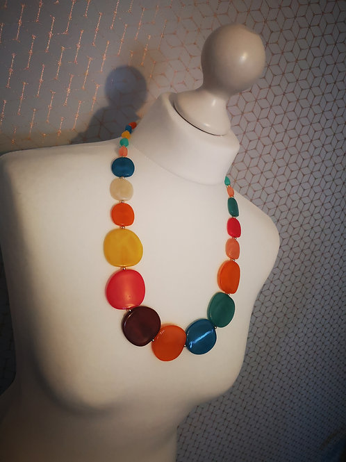 Multicoloured  Circle Necklace