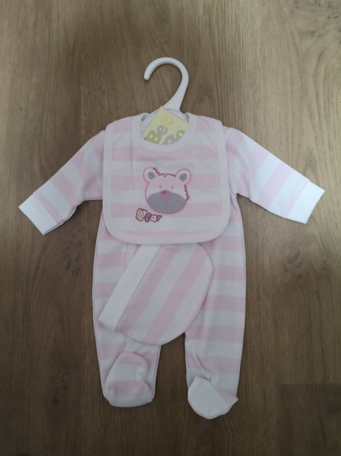 3 Piece Pink Bear Set