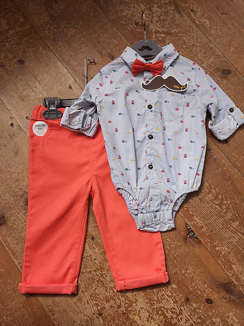 Boy Bow, Body And Trouser Set