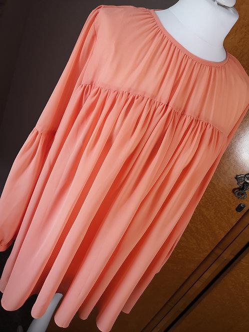 Peach bohemian blouse