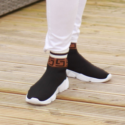 Gucci Inspired High Top Trainers