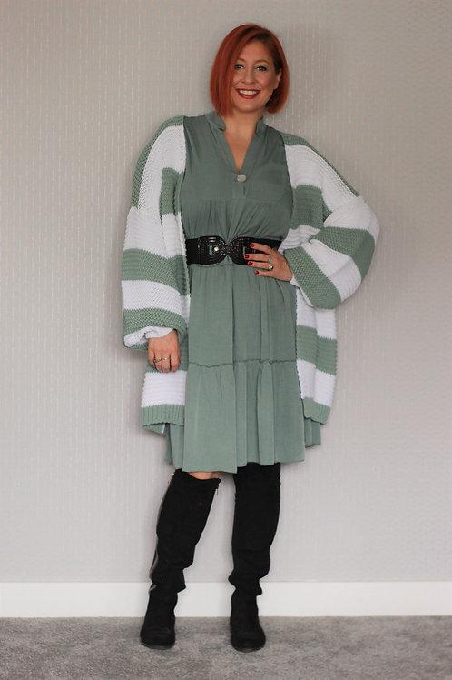 Wide Stripped Chunky Knitt Cardigan