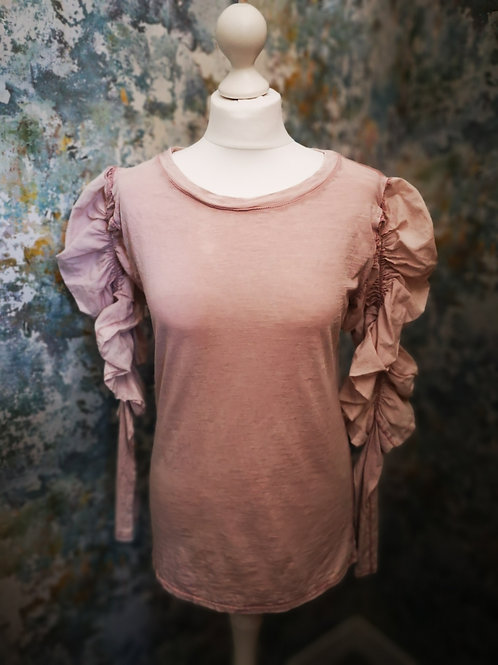 Long Sleeve Ruffle T-shirt