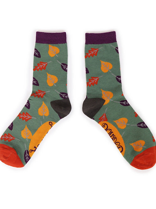 Autumn Leaf Ankle Socks
