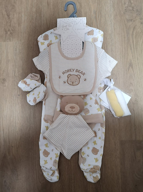 New Baby Gift Bag 7 piece Set