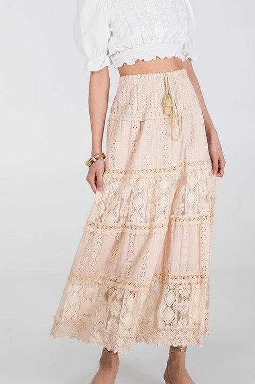 White Gypsy Skirt