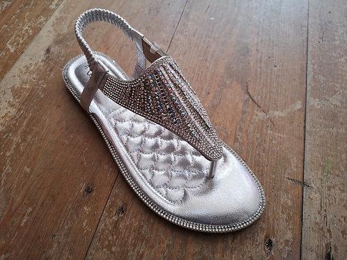 Diamonte Silver Sandal