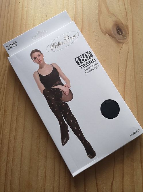 Black and white spots 180 Den tights