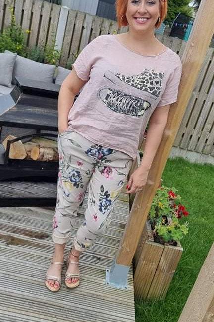 Stretch Patterned & plain Capri Pants