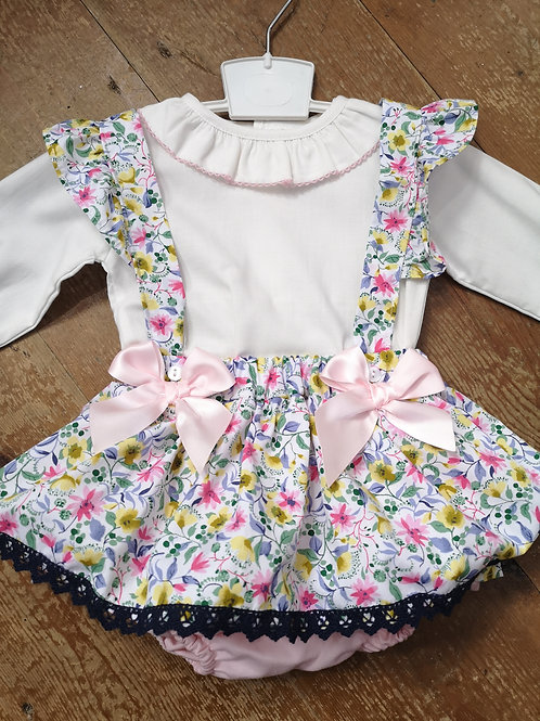 Summer Bloomers pinafore Set