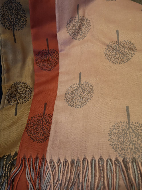 Super soft Tree of Life scarf