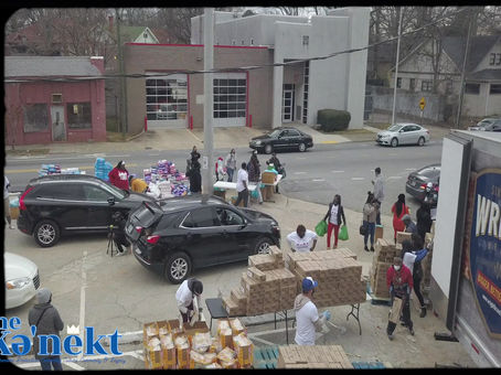 40,000 lbs of food distributed to 4000 families