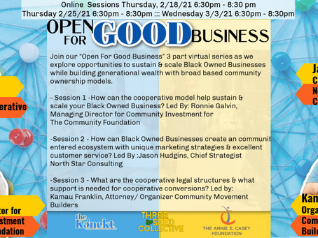 """Open for Good Business"" community conversations"