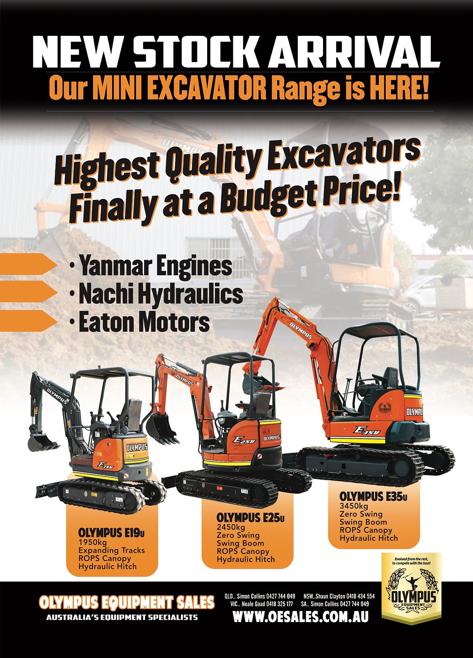 Olympus Loaders Full Page Excavators E&E