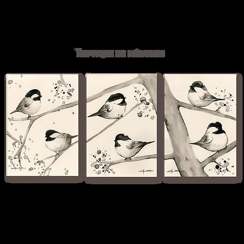 Triptyque de Mésanges
