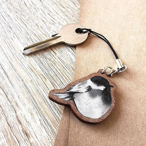 Porte-clef Mésange noire