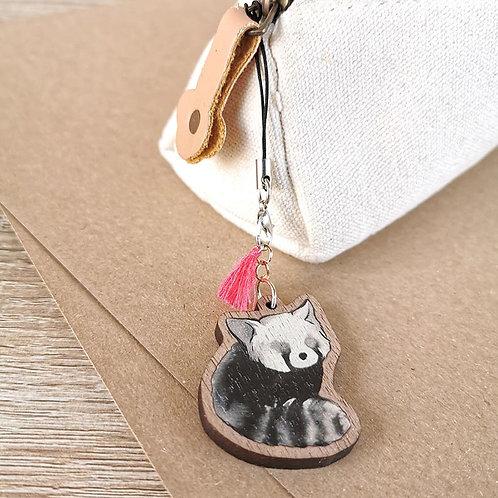 Porte-clef Panda roux assis