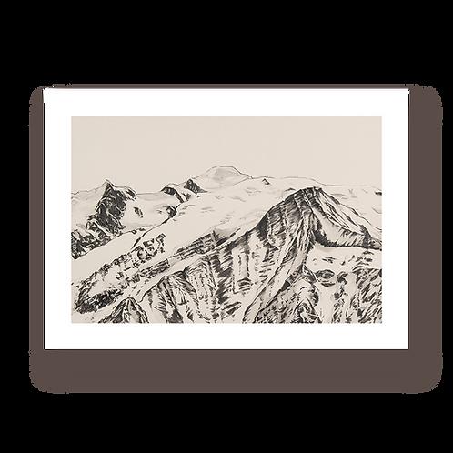 Mont Blanc - Tirage d'Art