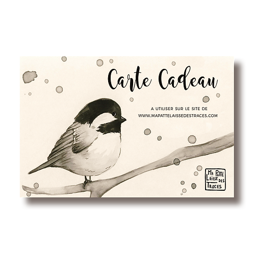 Carte Cadeau 75 €