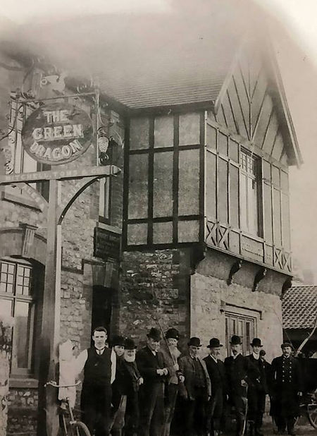 its outside of the pub from 1909