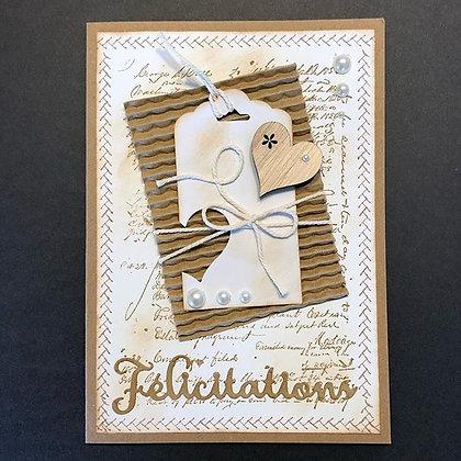Grande carte''Félicitations''