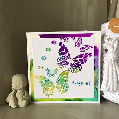 Carte ''Rétablis-toi vite'' avec papillons
