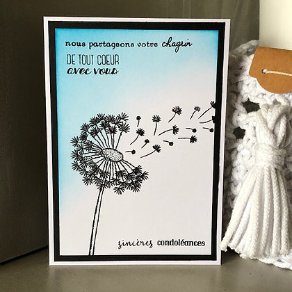 Carte ''Sincères condoléances''