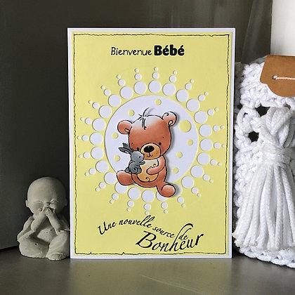 Carte ''Bienvenue Bébé, Une nouvelle source de bonheur''