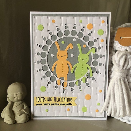 Carte ''Toutes nos félicitations pour votre petite merveille''