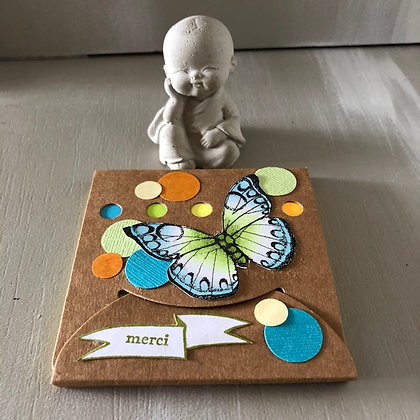 Post'it ''Merci'' avec papillon