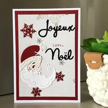 Carte ''Joyeux Noël'' avec Père Noël