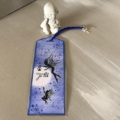 Marque page ''petites fées'' dans les tons bleus