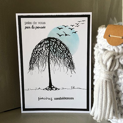 Carte ''Sincères condoléances'' avec arbre