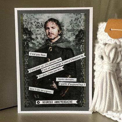 Carte ''Heureux anniversaire'' avec Perceval et ses phrases