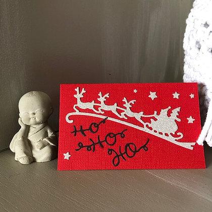 Pochette pour bon cadeau ''Ho Ho Ho'' avec traineau