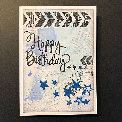 Carte ''Happy Birthday'' étoiles