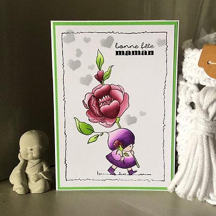 Carte ''Bonne fête maman''